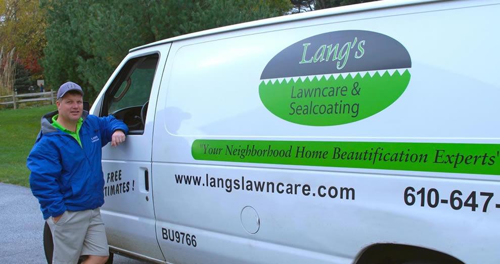 Langs Lawn Care Van with Kieth