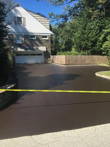 Driveway that has been seal coated